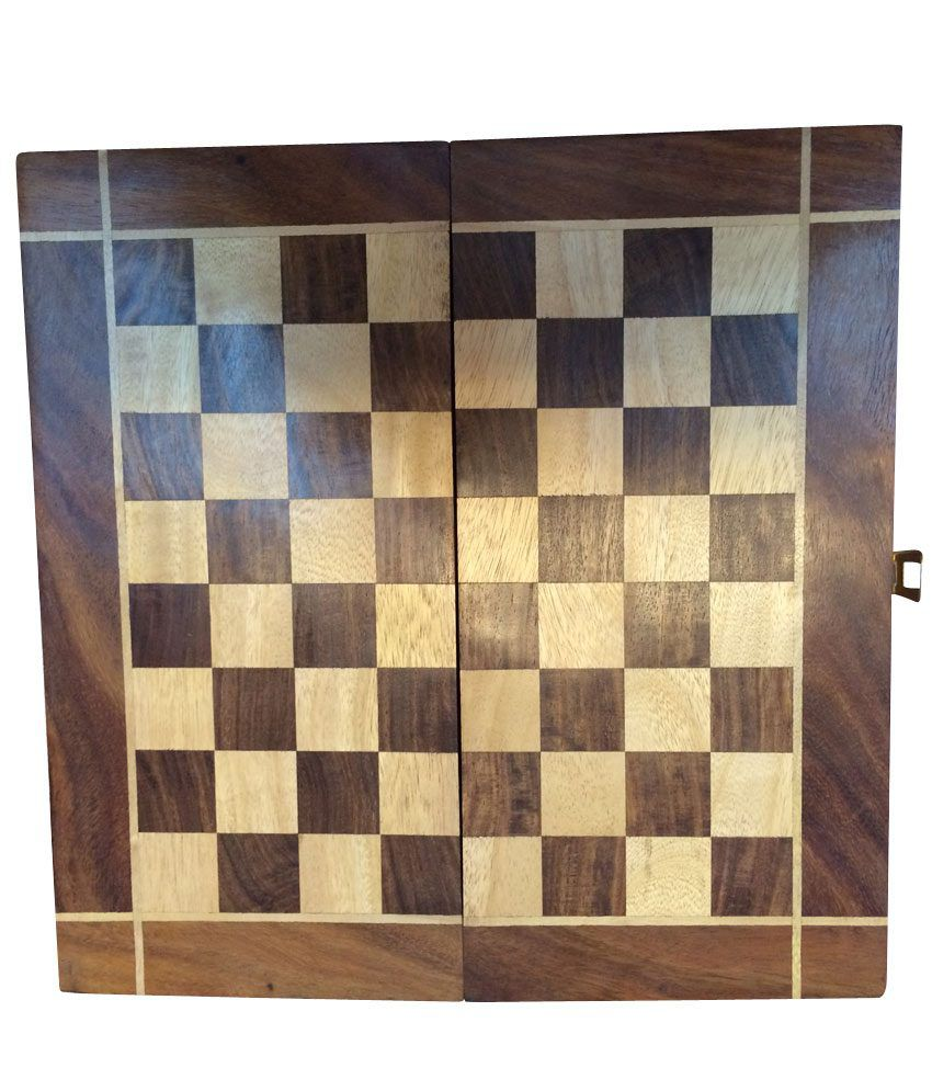 Material Movement Wooden Chess Board In Rose Wood 6x6