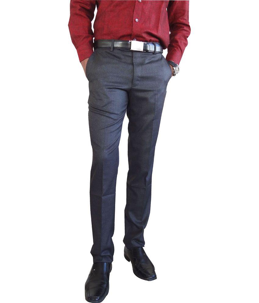 AD & AV Black Poly Viscose Semi Formal Trouser