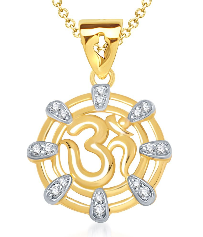 Vk Jewels Anmol Om Pendant Gold And Rhodium Plated