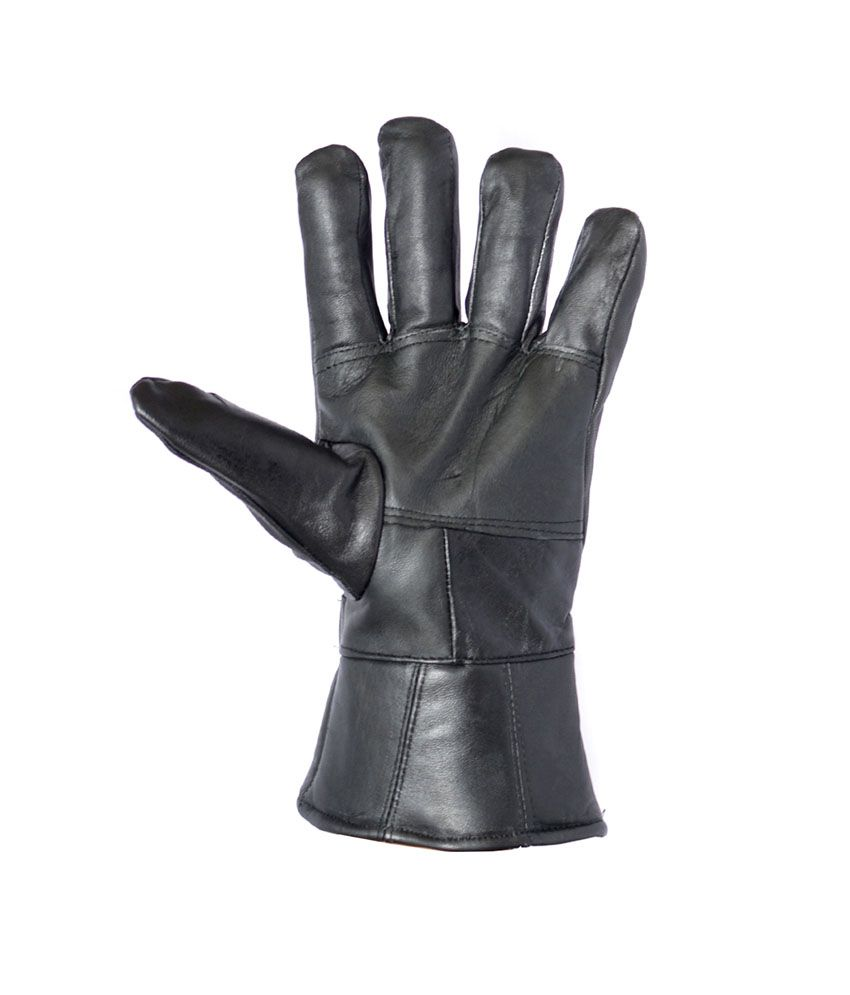 Buy leather hand gloves online india -  Wcl 100 Sheep Napa Hand Gloves Fast Color Black