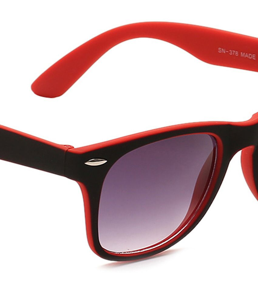 red wayfarer sunglasses uqw9  Vorosky Black Red Wayfarer Sunglasses