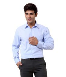 Oxemberg Light Blue Self Formals Shirt