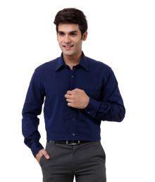Oxemberg Navy Blue Formals Shirt