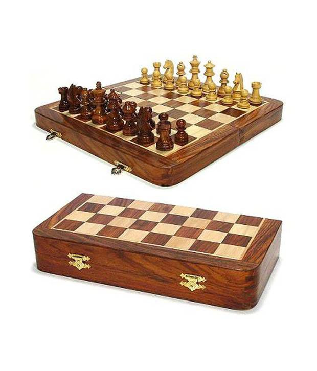 Craft Store India Hand Made Wooden Folding Chess