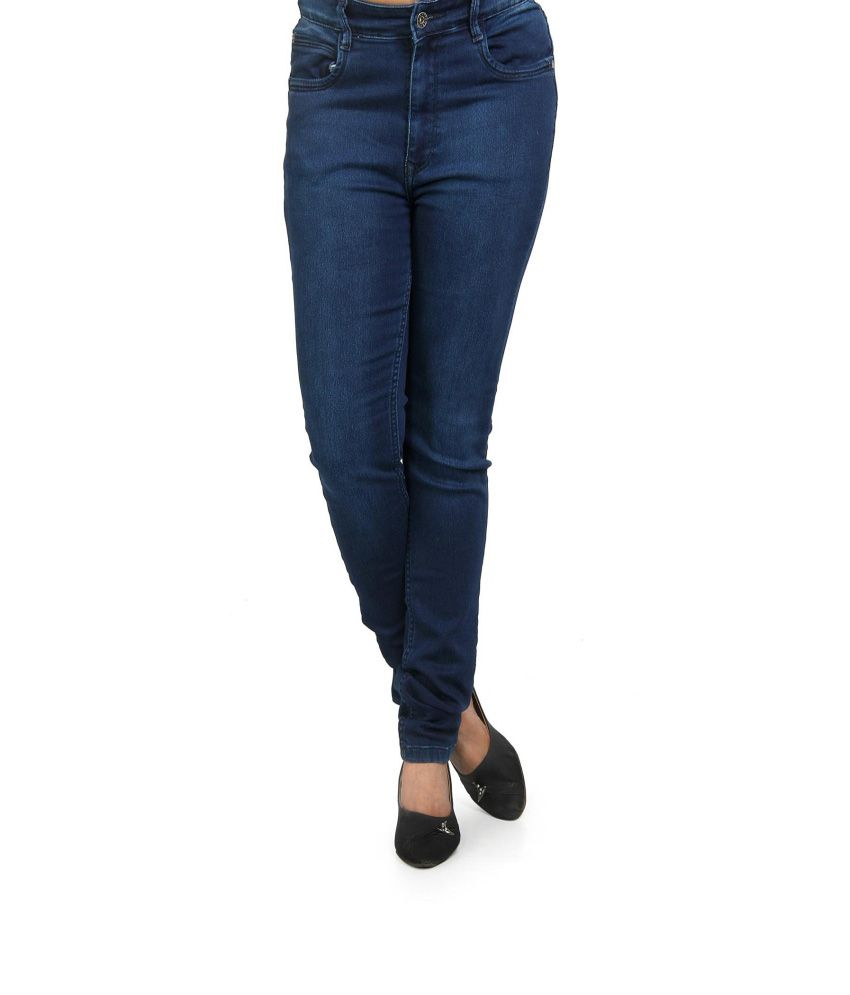 bff829c1915ed Buy Fck-3 Women Blue High Waist Designer Jeans Online at Best Prices in  India - Snapdeal