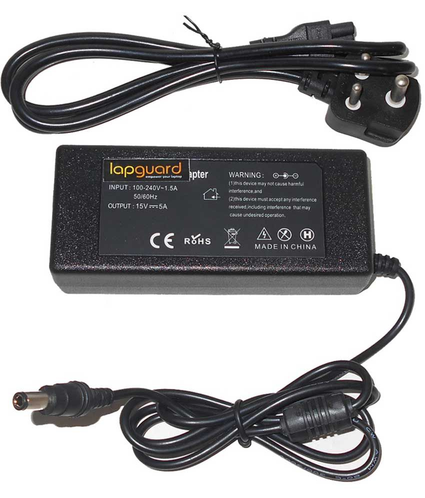 Lapguard Laptop Adapter For Toshiba Satellite A300-1rs A300-1ry, 19v 3.95a 75w Connector