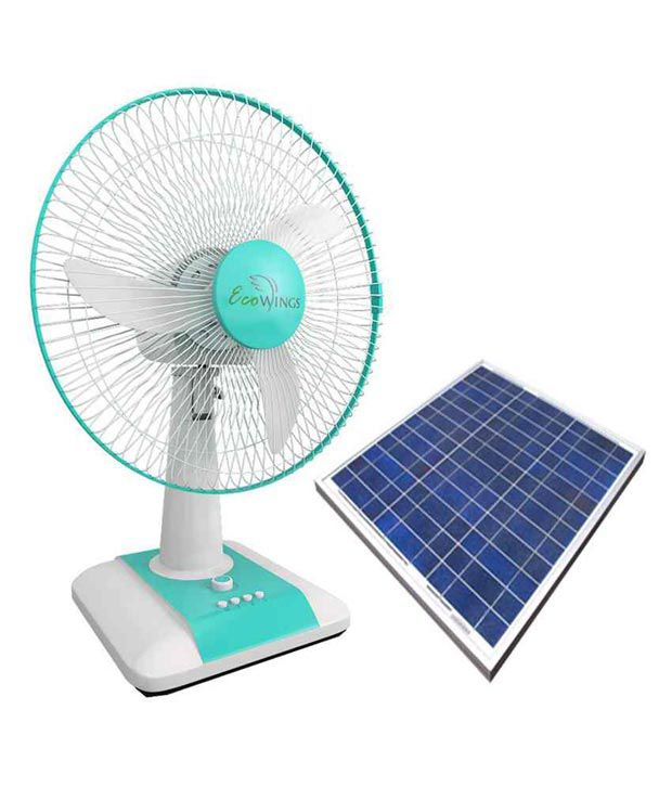 Ecowings Table Fan 12 Inch Solar Price In India Online On Snapdeal