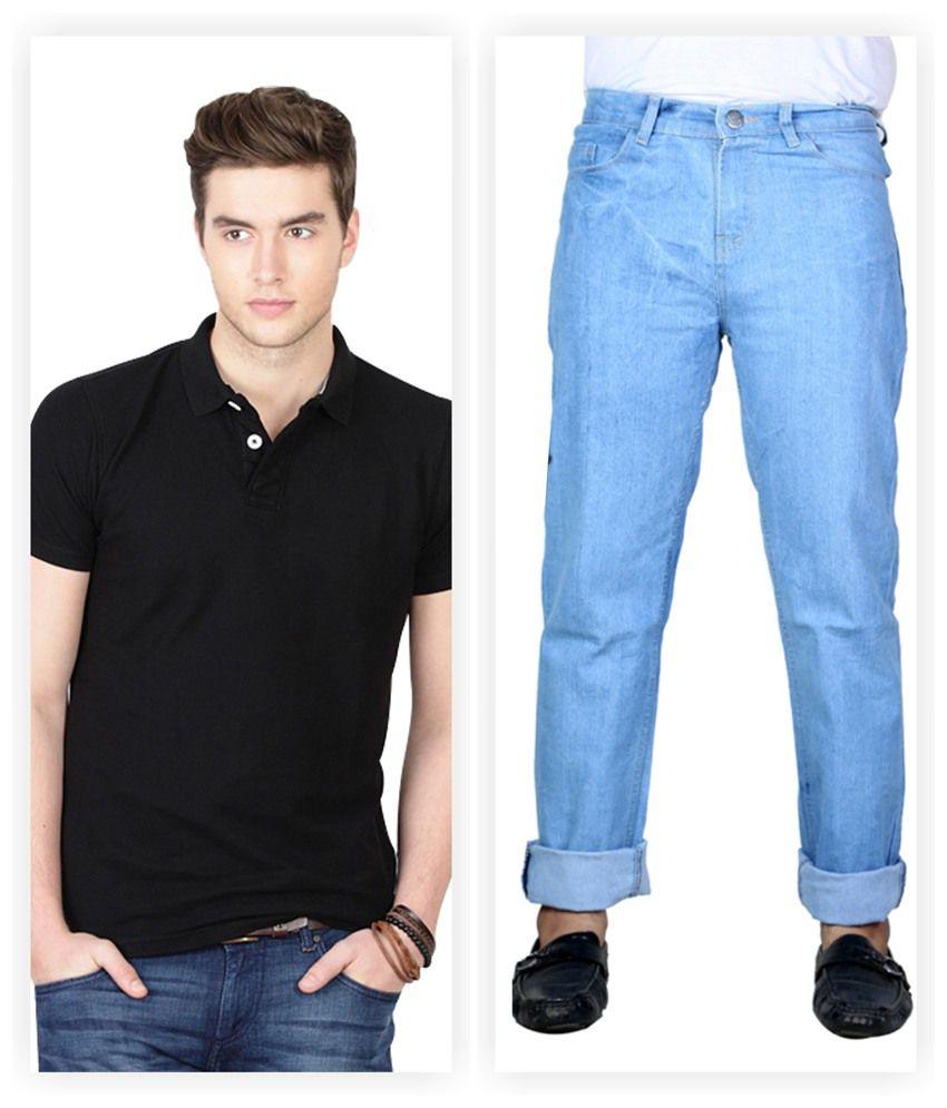 Haltung Jeans u0026 Polo T-shirt Combo - Buy Haltung Jeans u0026 Polo T-shirt Combo Online at Best ...