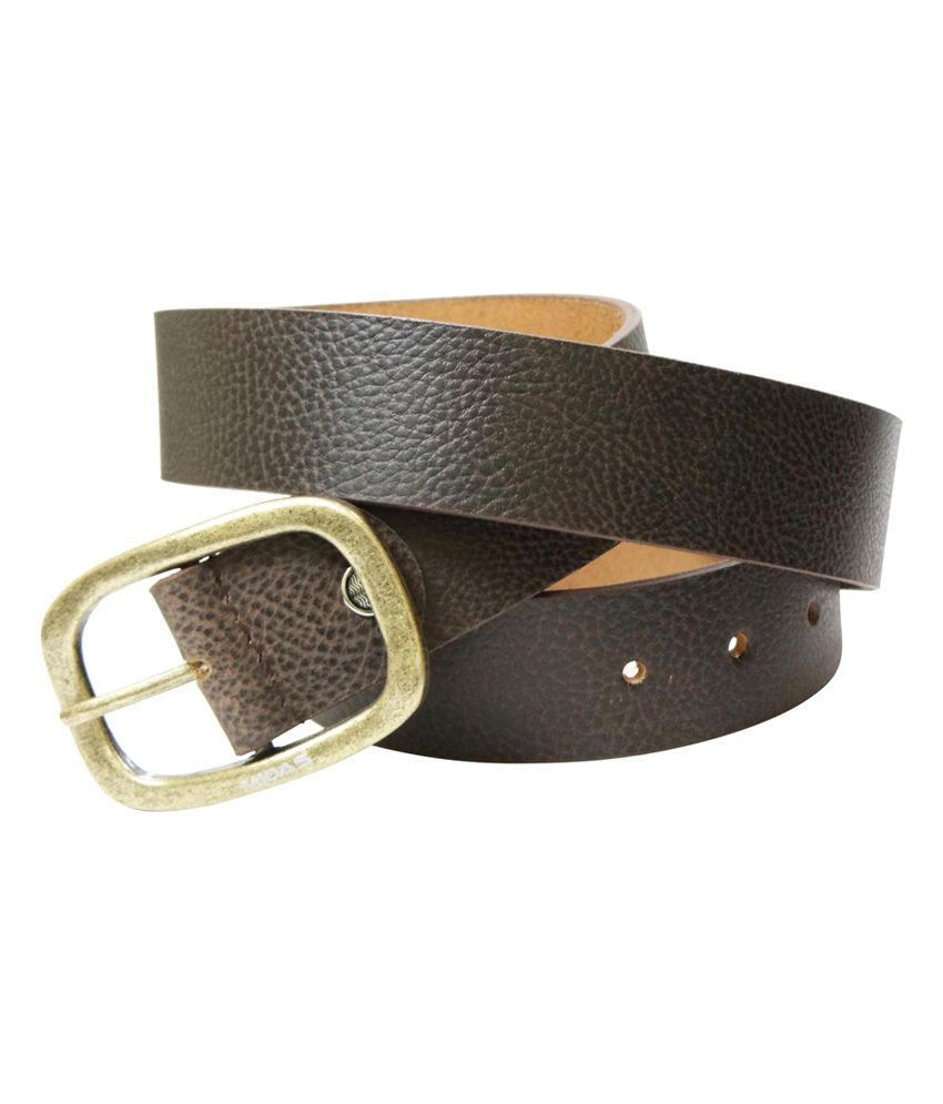 Midas Casual Leather Belt - Brown