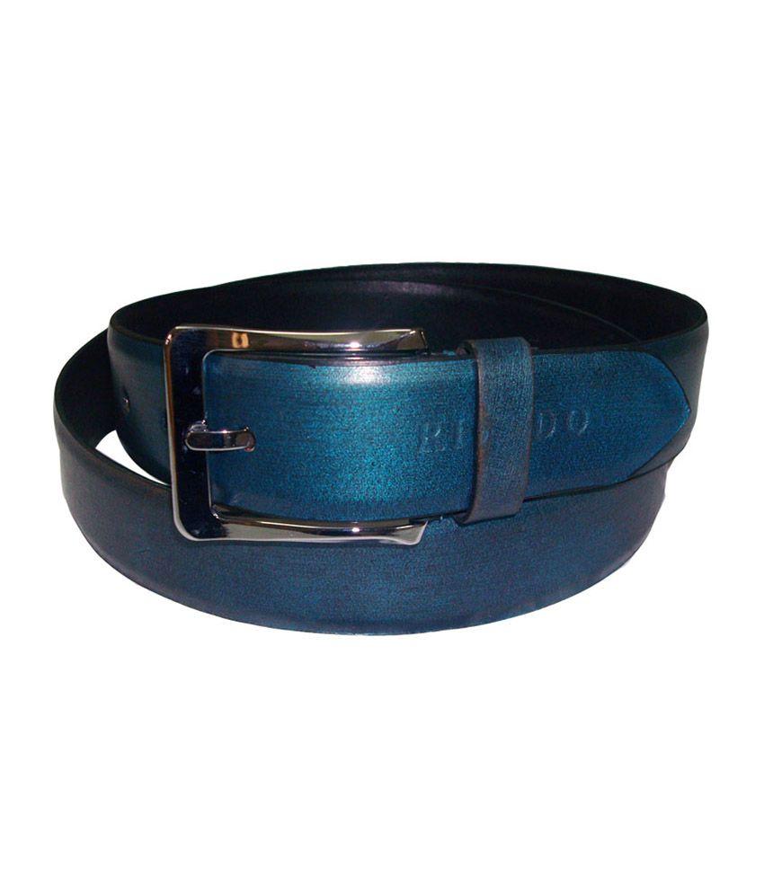 Rigado Blue Formal Genuine Leather Belt