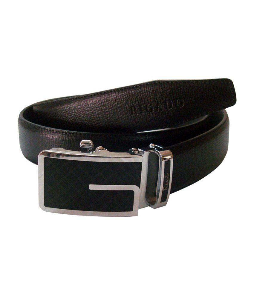 Rigado Spanish Black Formal Leather Belt for Men