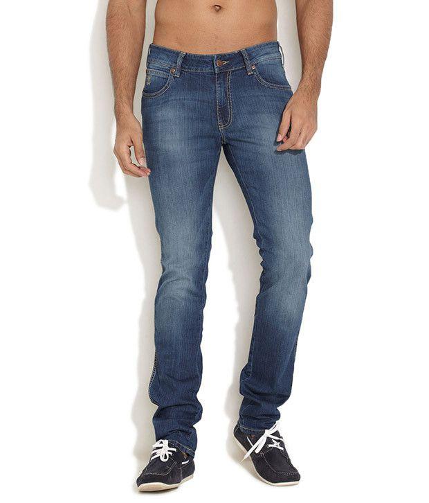 Wrangler Dark Blue Skanders Score Jeans