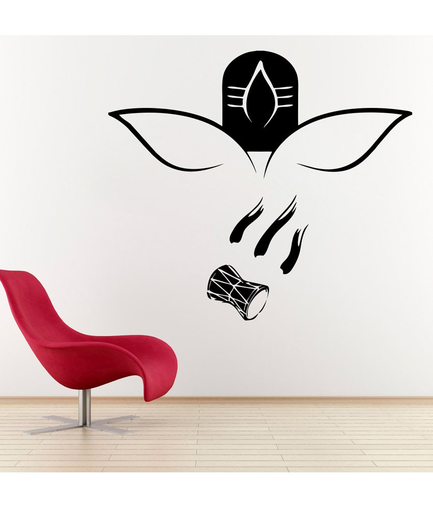 Wall Decor Stickers Snapdeal : Decor kafe black shiv ji wall decal small buy
