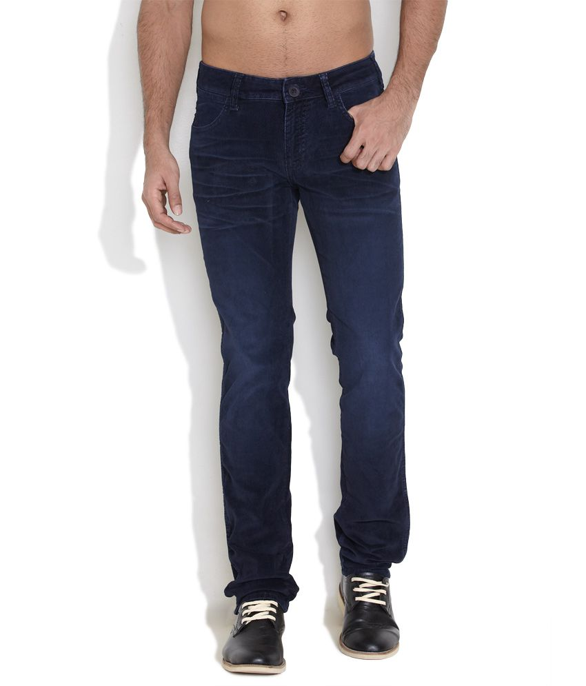 Wrangler Dark Blue Corduroy Pants