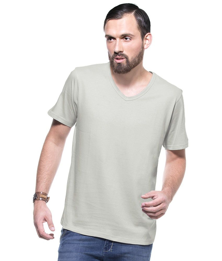 Zovi Gray Cotton T-shirt