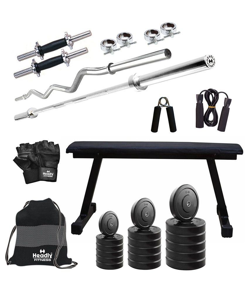 Headly kg convenient home gym quot dumbbells rods