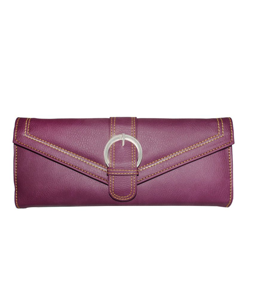 Jbpearls Purple Synthetic Leather Designer Collections Clutch
