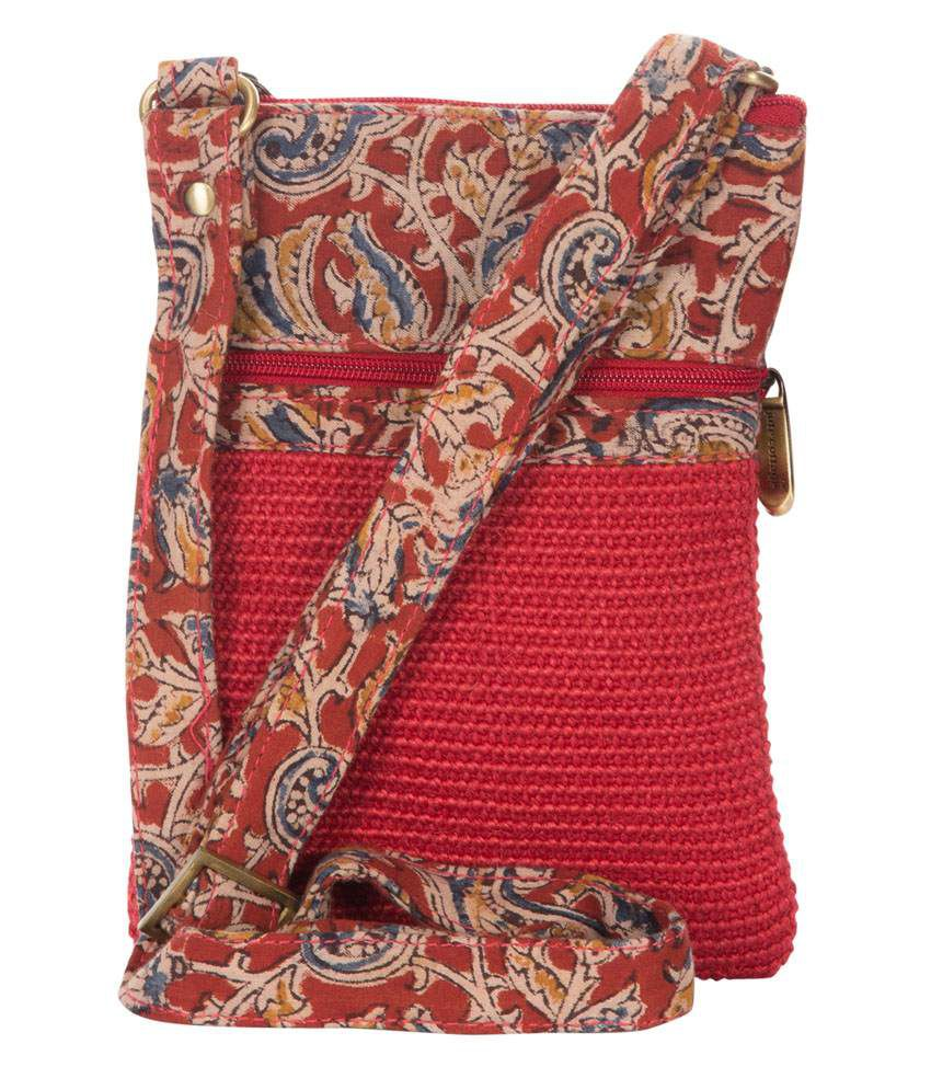 Jute Cottage Red Jute Dobby Sling Small