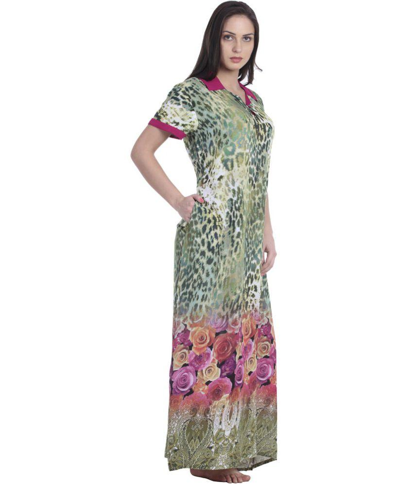 bcd3ae854 Sukanya Multi Cotton Printed Nighty Sukanya Multi Cotton Printed Nighty ...