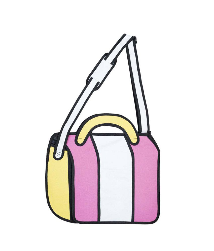 2d Pink Magnit Button Cross Body Bag