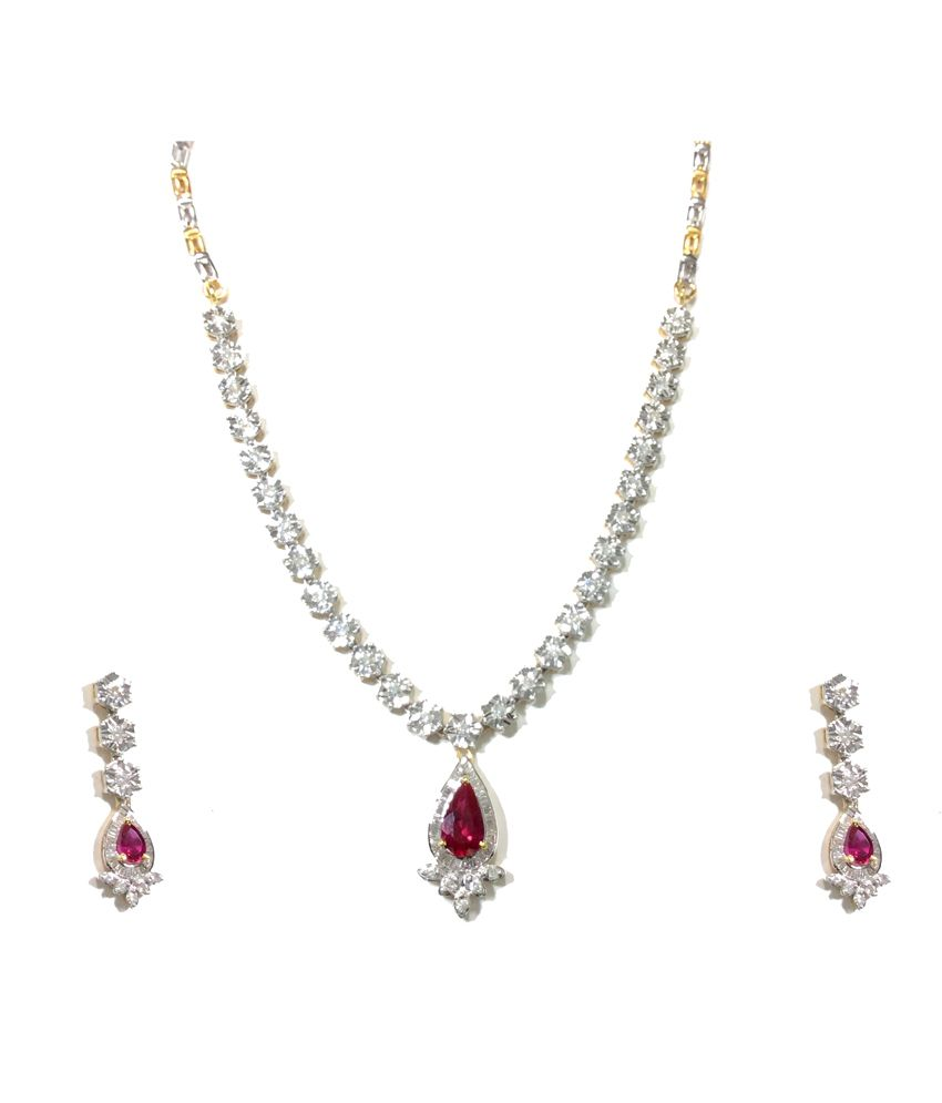 Kataria Jewellers Colour Spark Ruby Diamond Set With Hallmarked Gold And Real Certified Diamonds