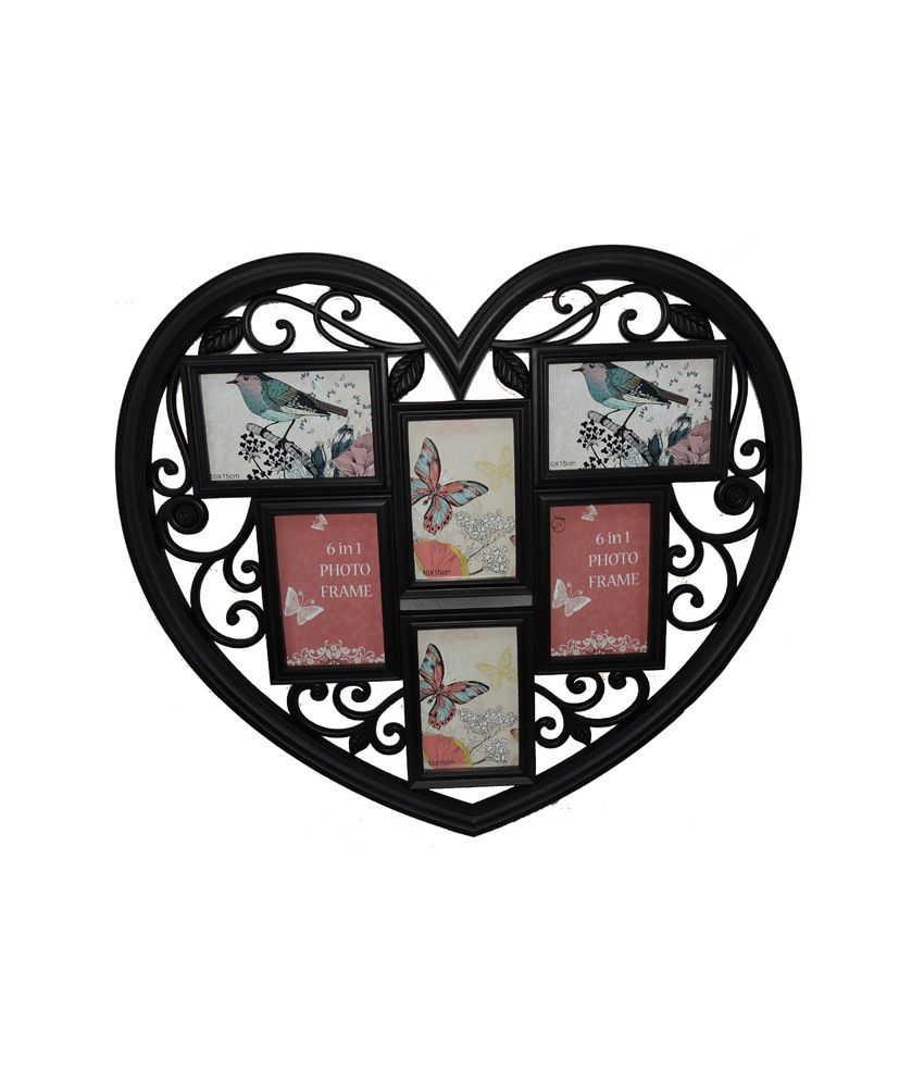 premjis 6 photos heart collage photo frame  buy premjis 6