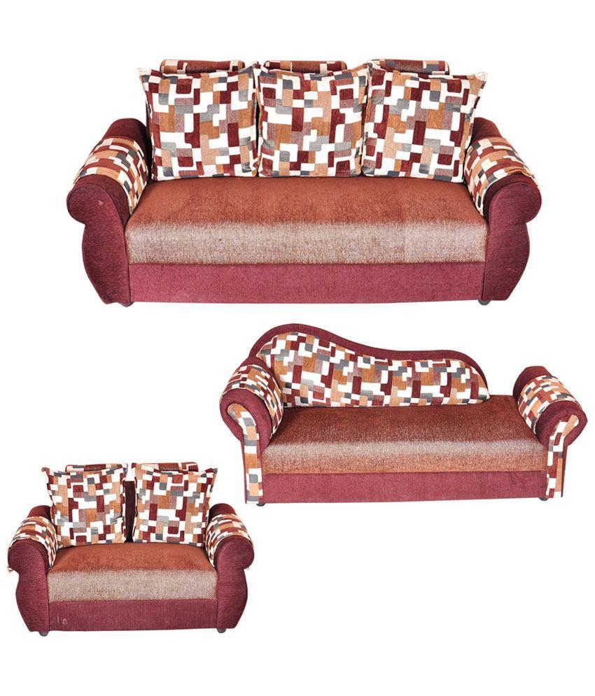 Siddhanth Furniture Brown 3+2 Plus Deewan Sofa ...