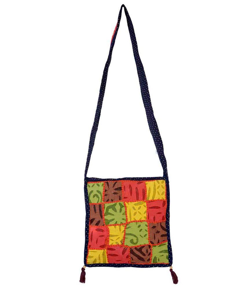 Famacart Blue Zip Womens Shoulder Bag