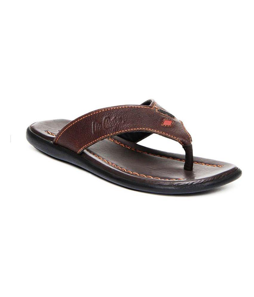 ccfba07cbf1922 Lee Cooper Brown Men s Sandals - Buy Lee Cooper Brown Men s Sandals Online  at Best Prices in India on Snapdeal