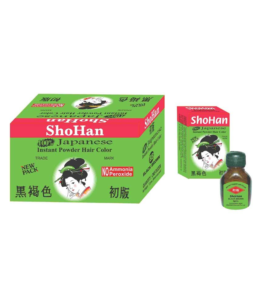 Shohan Styling Normal Hair Colour & Dyer Black Brown - Set Of 12