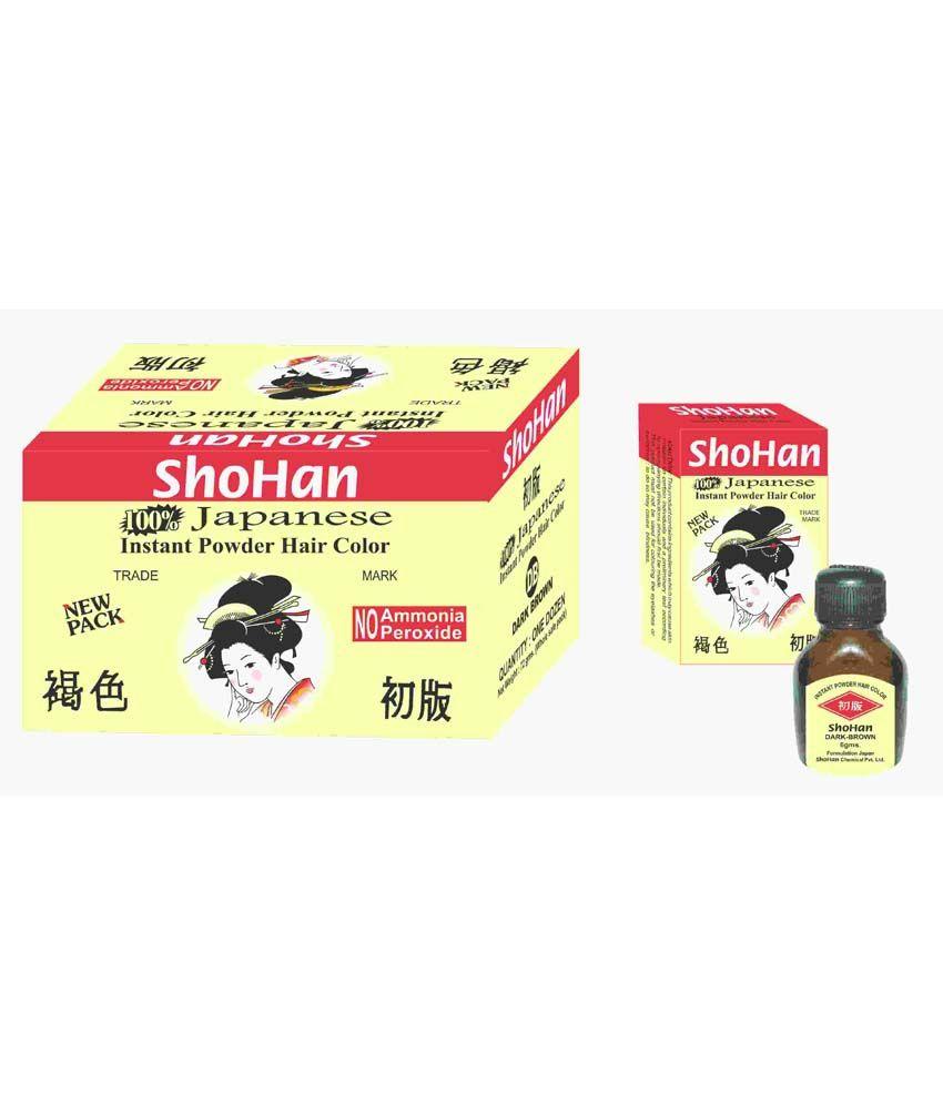 Shohan Styling Normal Hair Colour & Dyer Dark Brown - Set Of 6