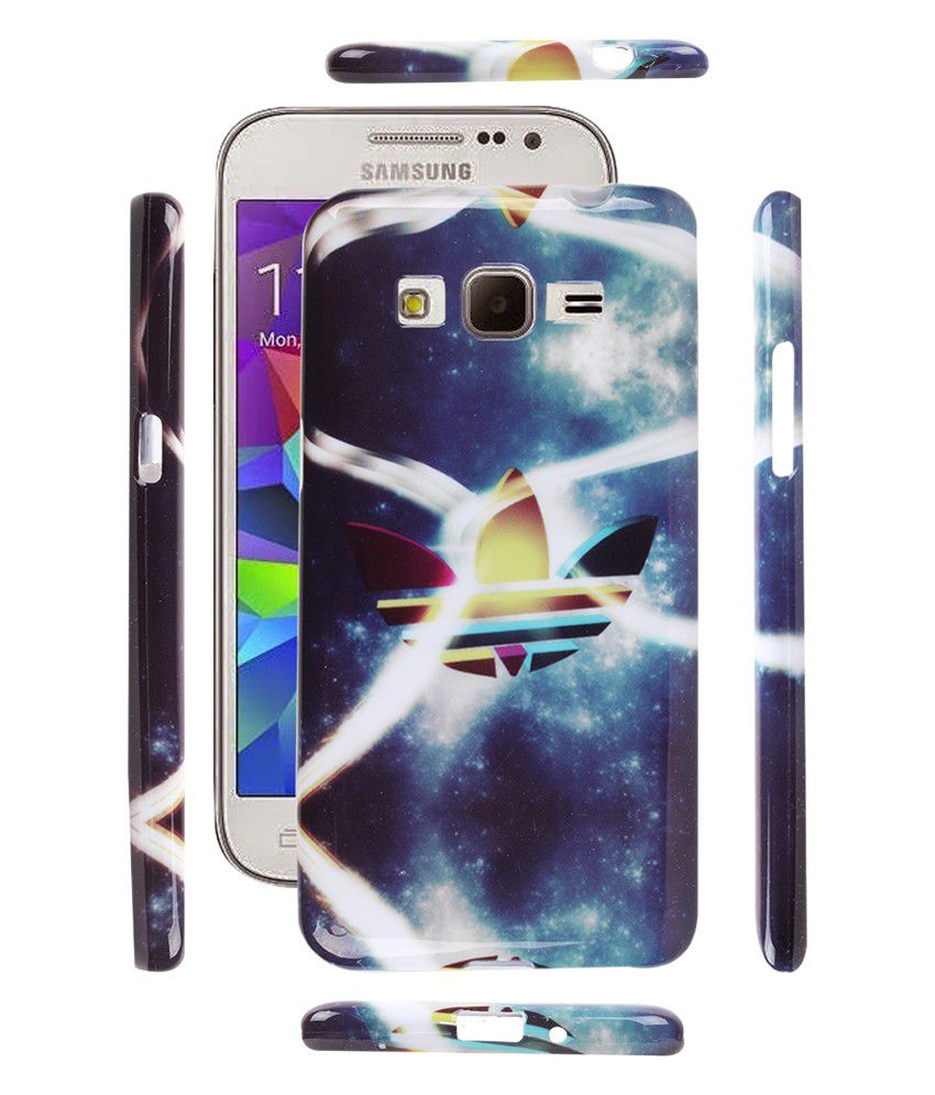 Fuson Premium Designer Soft Silicon Back Case Cover For Samsung Galaxy Grand Prime G530h Addidas