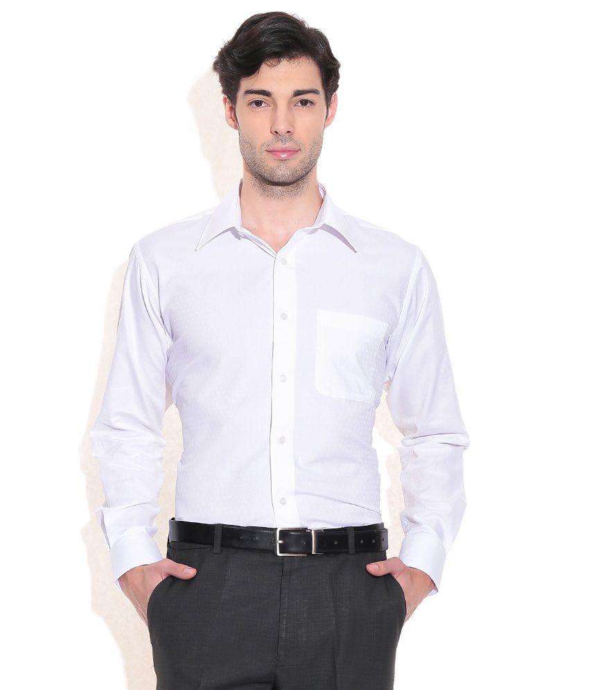 Raymond White Slim Fit Formal Shirt - Buy Raymond White Slim Fit ...