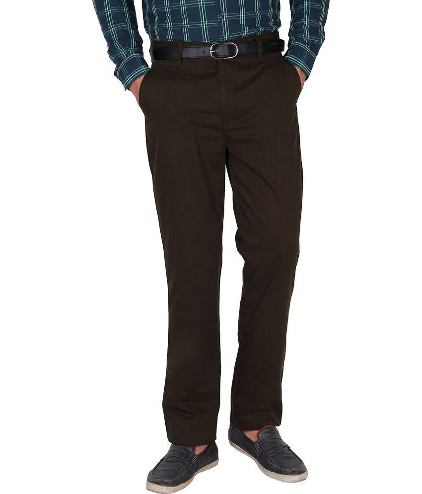 Crocks Club Green Cotton Regular Trouser For Men