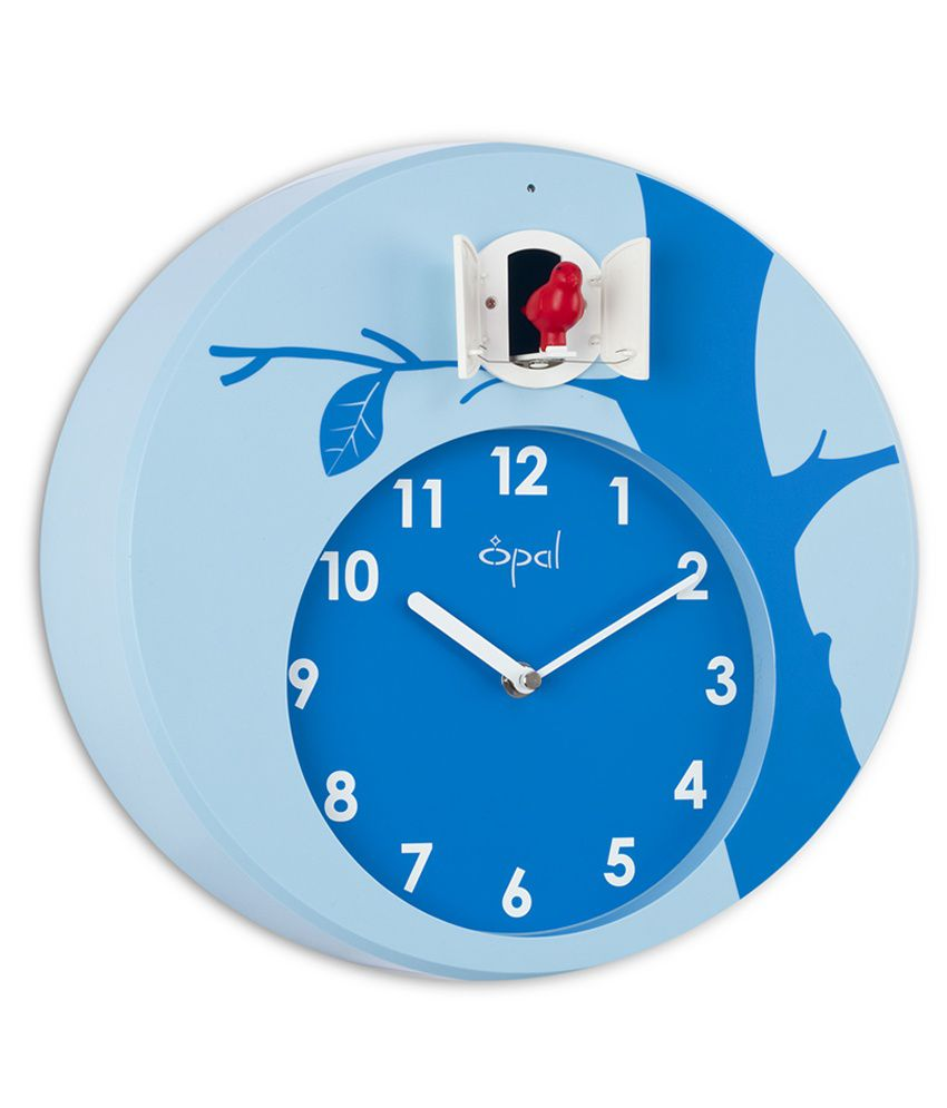 Opal designer cuckoo wall clock blue buy opal designer cuckoo opal designer cuckoo wall clock blue amipublicfo Choice Image