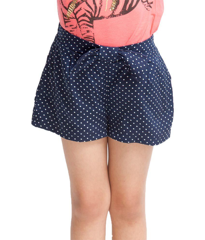 Oxolloxo Blue Printed Shorts