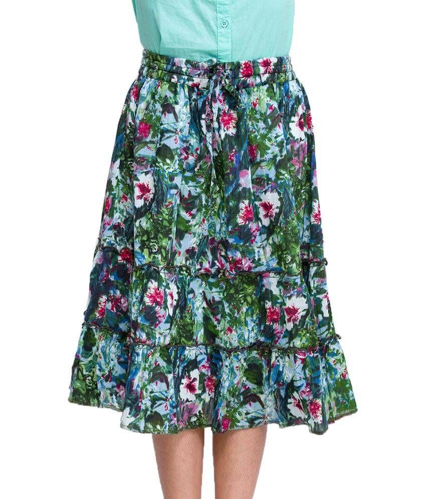 Oxolloxo Multi Color Printed Skirts