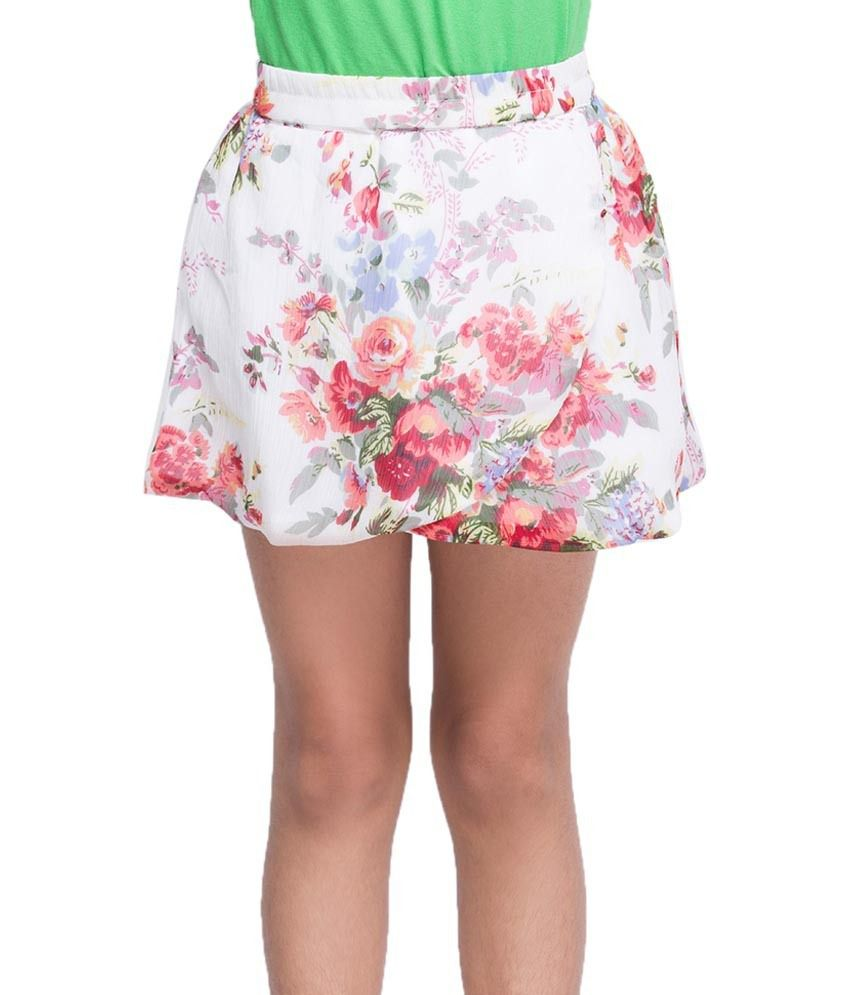 Oxolloxo White Printed Skirts