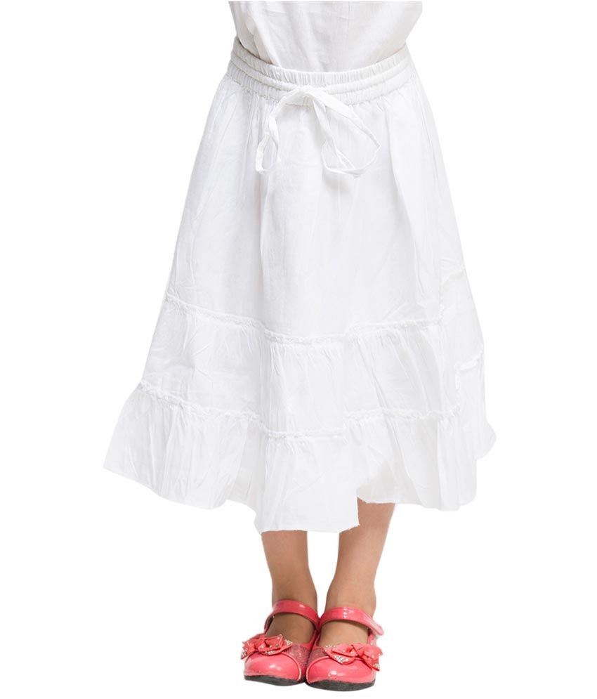 Oxolloxo White Solids Skirts