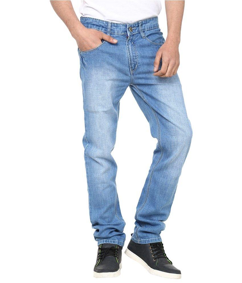 Savon Blue Slim Fit Cotton Jeans