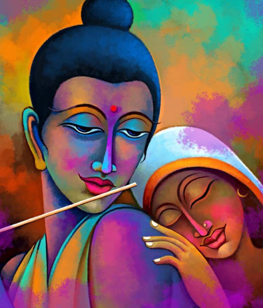 art factory radha krishna canvas painting religious painting buy