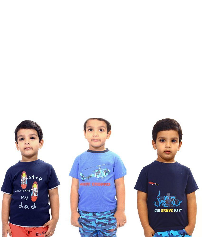Bio Kid Multicolour Cotton T Shirts