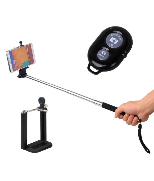Generic Selfie H&S Selfie Stick With Separate Bluetooth Camera Button Shutter