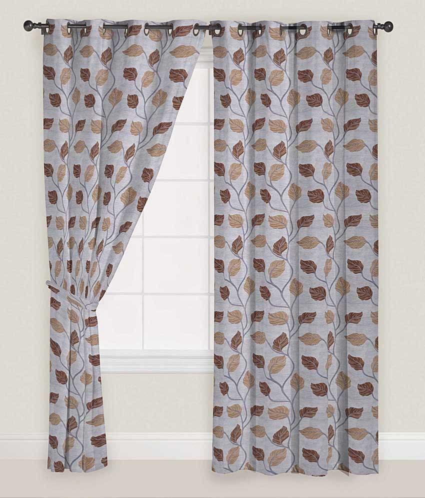Presto Set of 2 Door Eyelet Curtains Floral