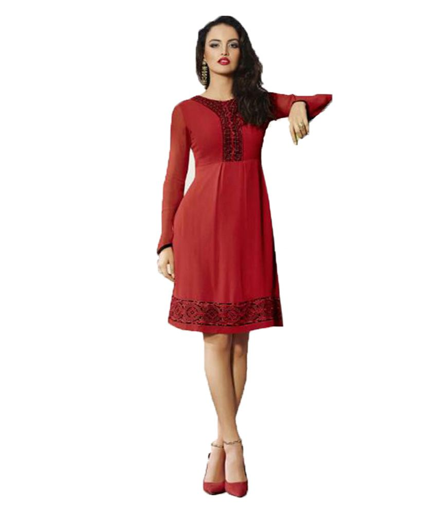 Typify Red Georgette Dresses