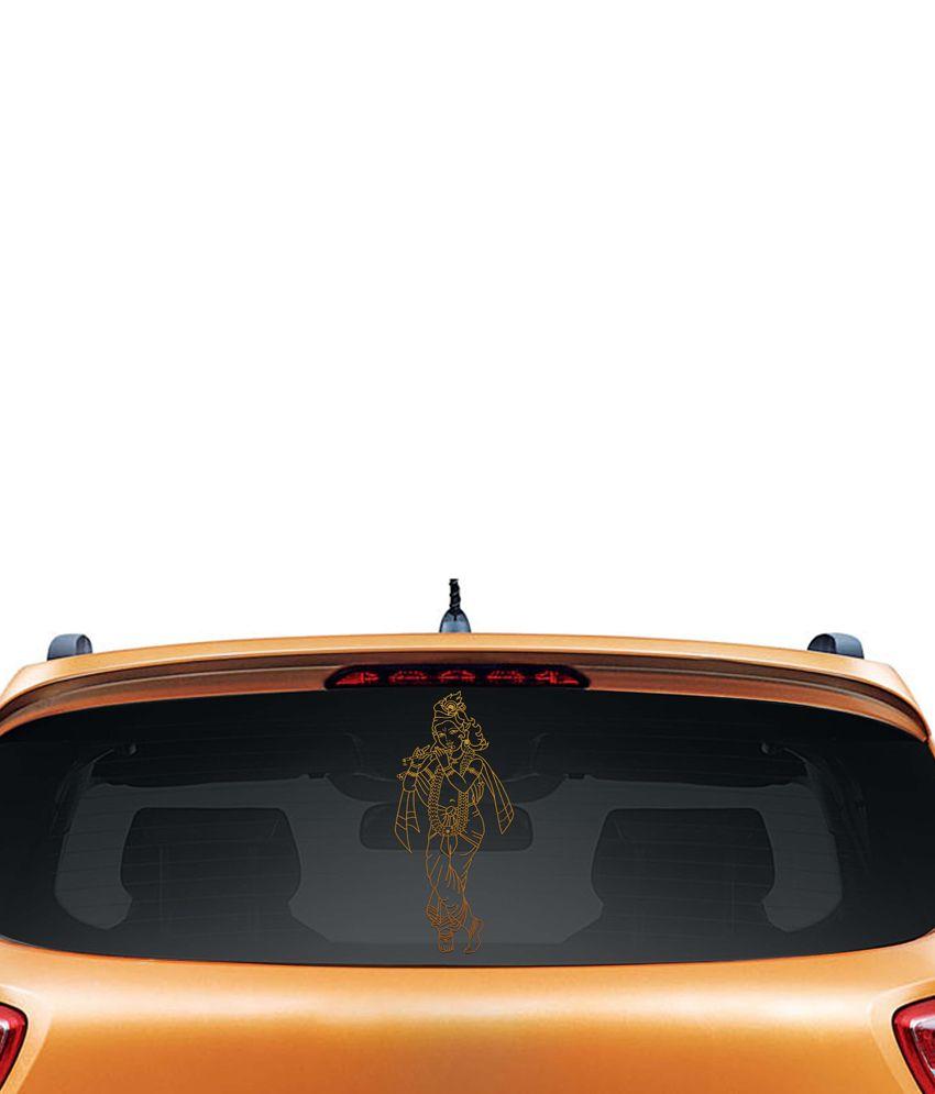 Walldesign Artistic Krishna Car Sticker - Copper