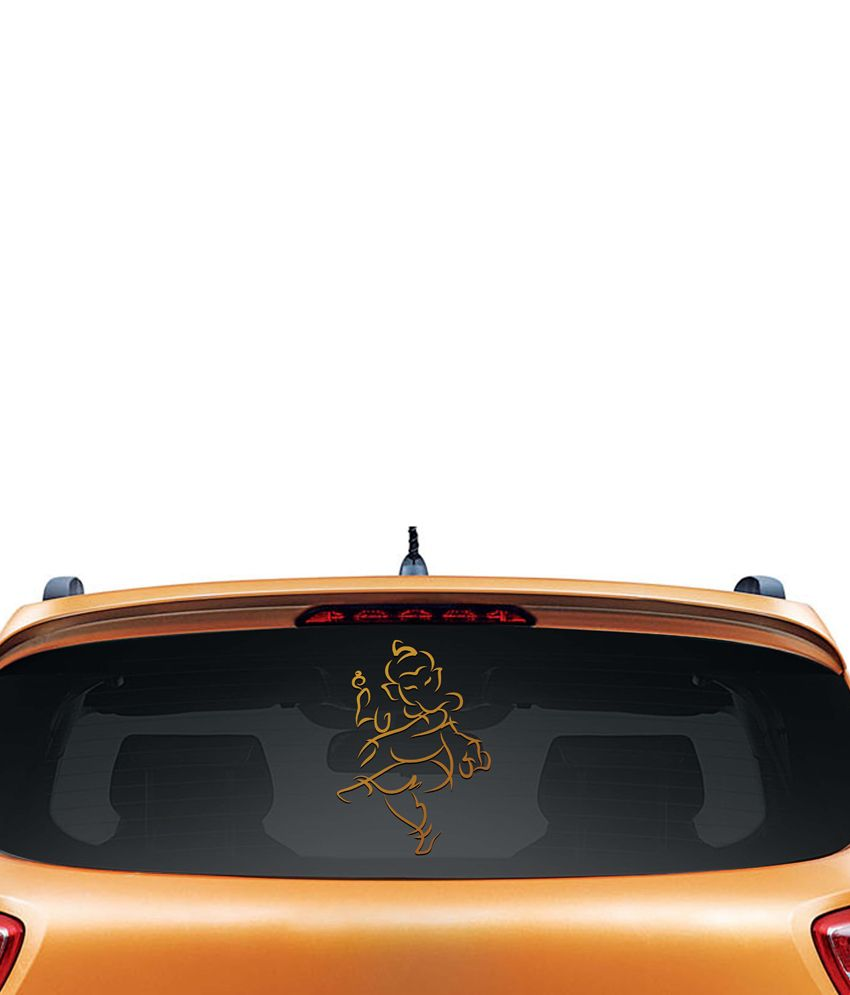 Walldesign Jai Ganesha Car Sticker - Copper