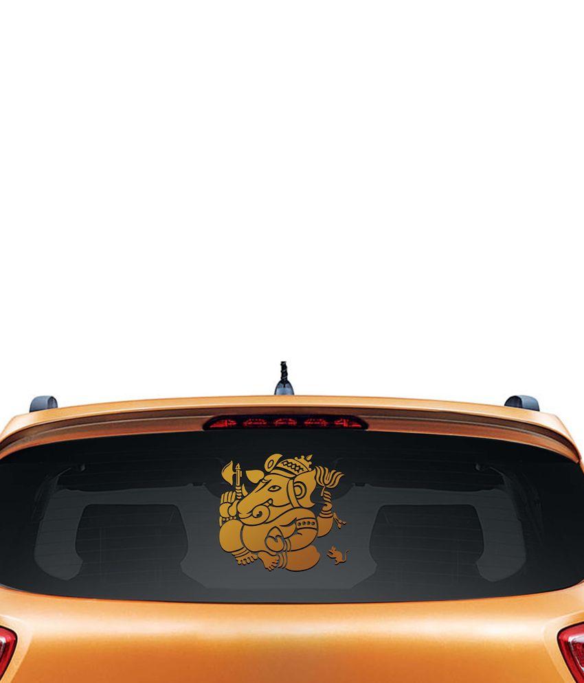 Walldesign Vinayaka Car Sticker - Copper