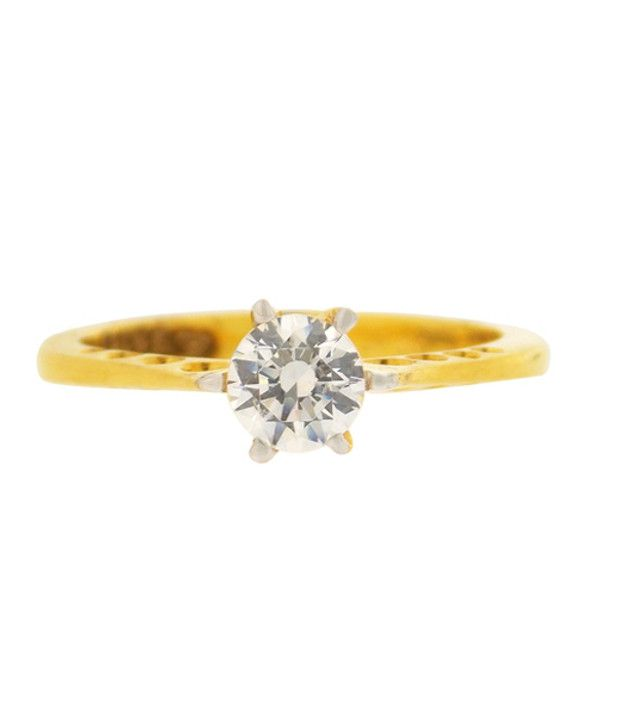 Atjewel Solitire Stone 18 Kt Gold Ring