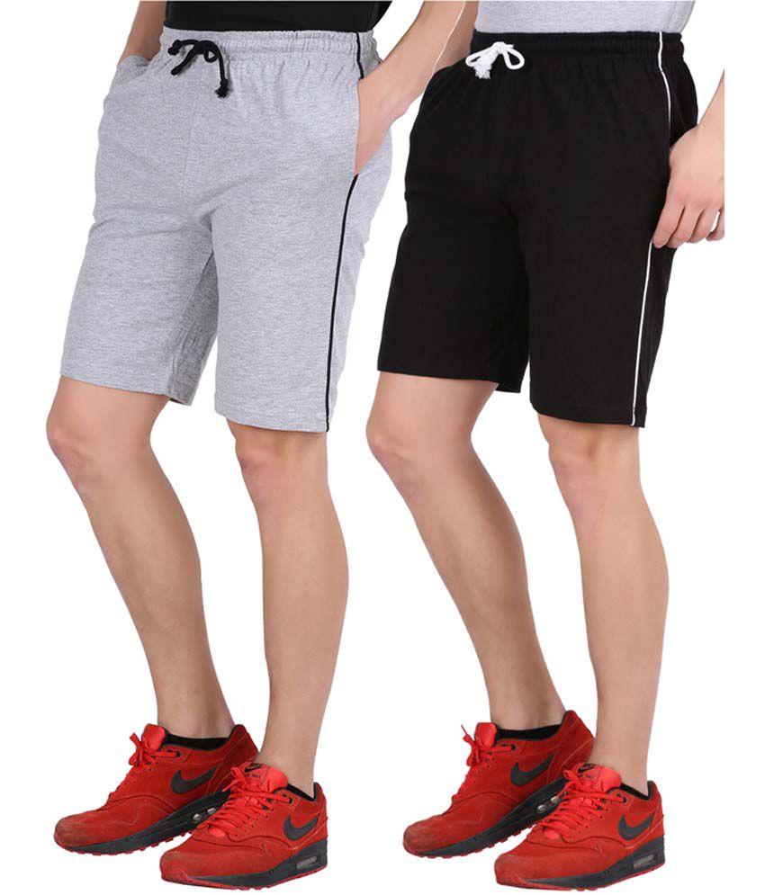 Checkersbay Multicolour Cotton Blend Shorts